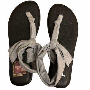 Sanuk Yoga Sling 2 Yoga Mat Striped Gray Sandals